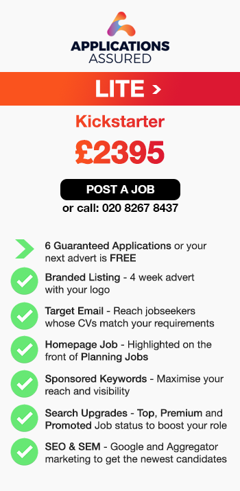 Applications Assured Lite. Kickstarter. £2395. Post a Job or call 02082678437. 6 Guaranteed Applications or your next advert is FREE. Branded Listing - 4 week advert 