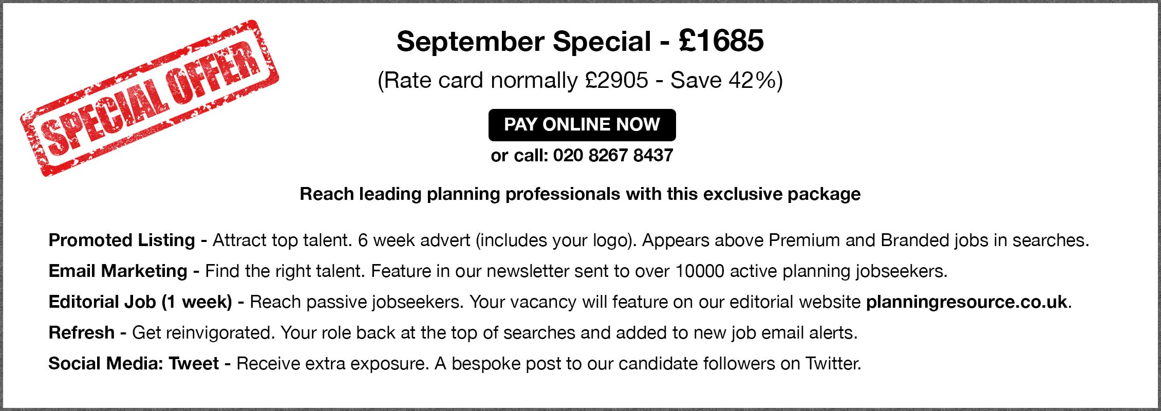 September Special - £1685.